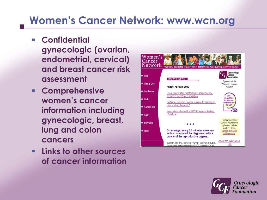 Women's Cancer Network: www.wcn.org