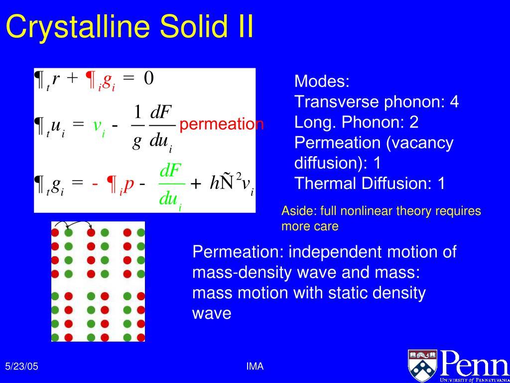 Crystalline Solid II