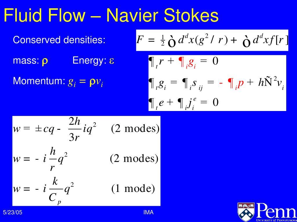 Fluid Flow – Navier Stokes