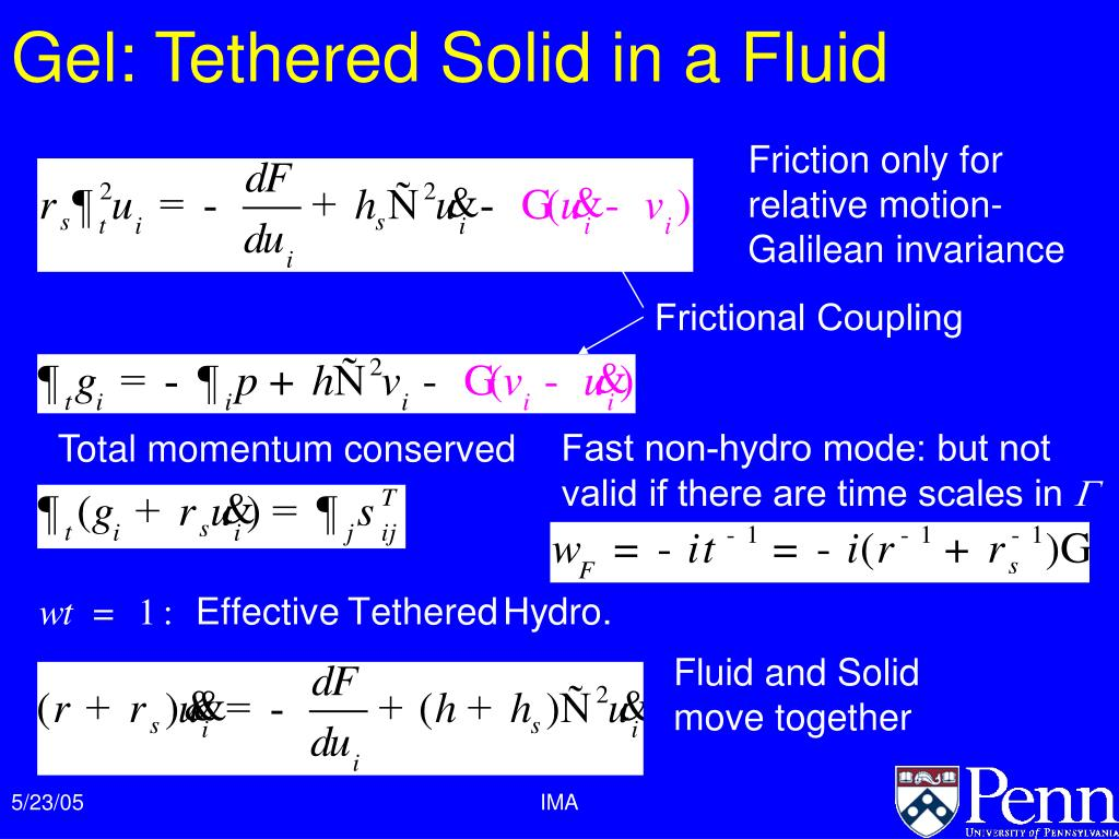 Gel: Tethered Solid in a Fluid