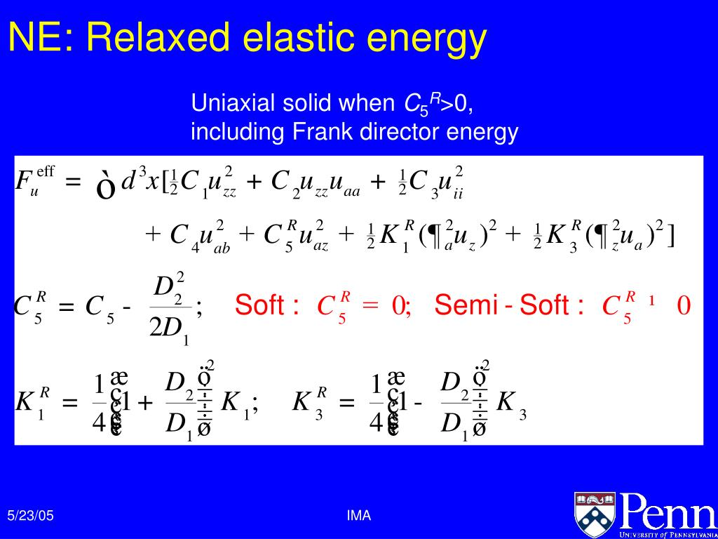 NE: Relaxed elastic energy