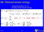 ne relaxed elastic energy
