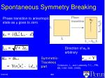 spontaneous symmetry breaking