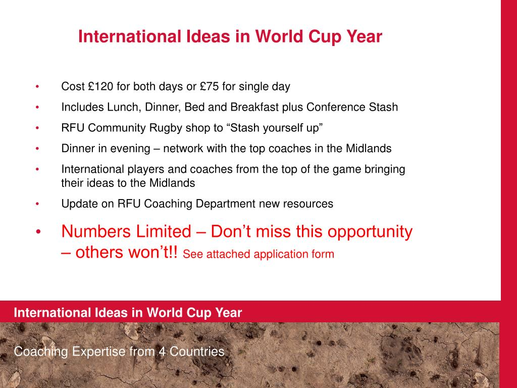 International Ideas in World Cup Year