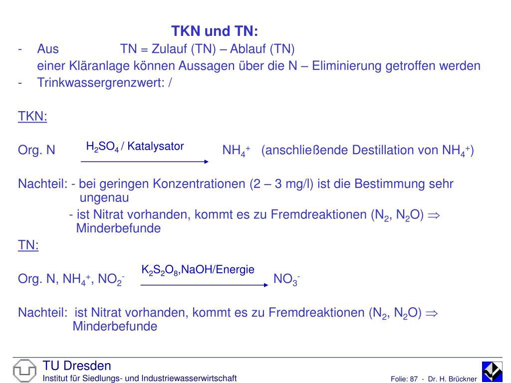 TKN und TN: