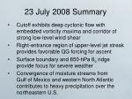 23 july 2008 summary