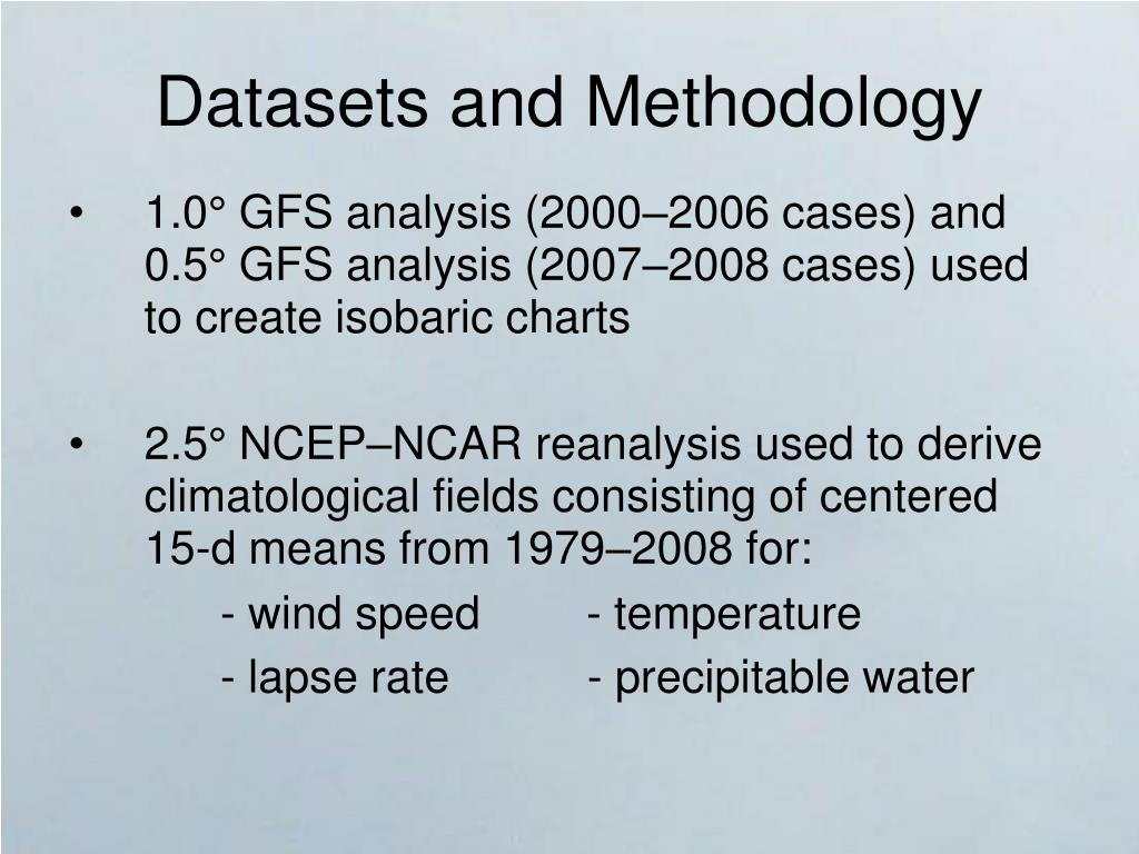 Datasets and Methodology