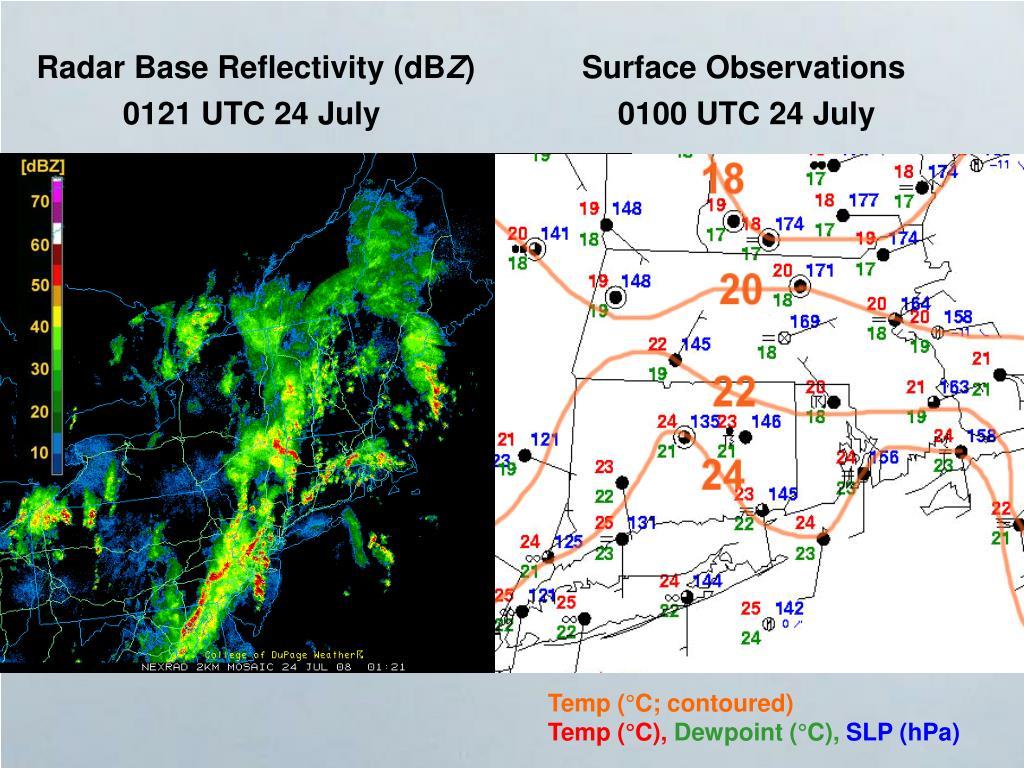Radar Base Reflectivity (dB