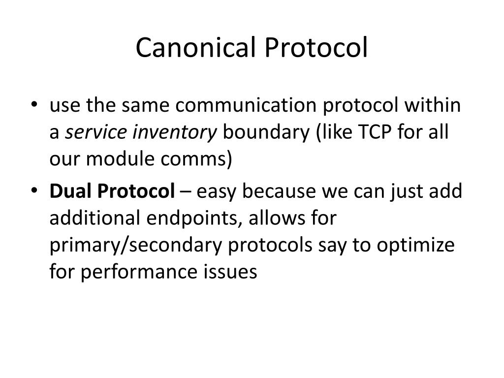 Canonical Protocol