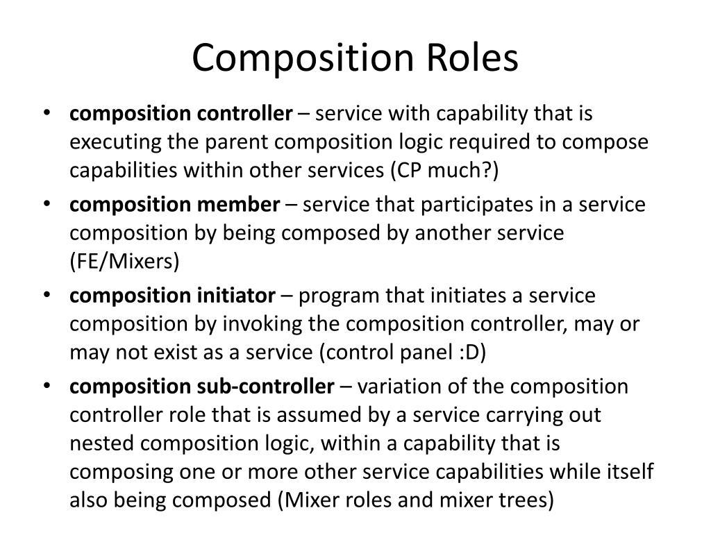 Composition Roles