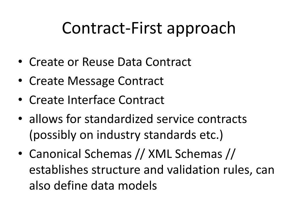 Contract-First approach