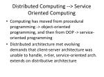 distributed computing service oriented computing