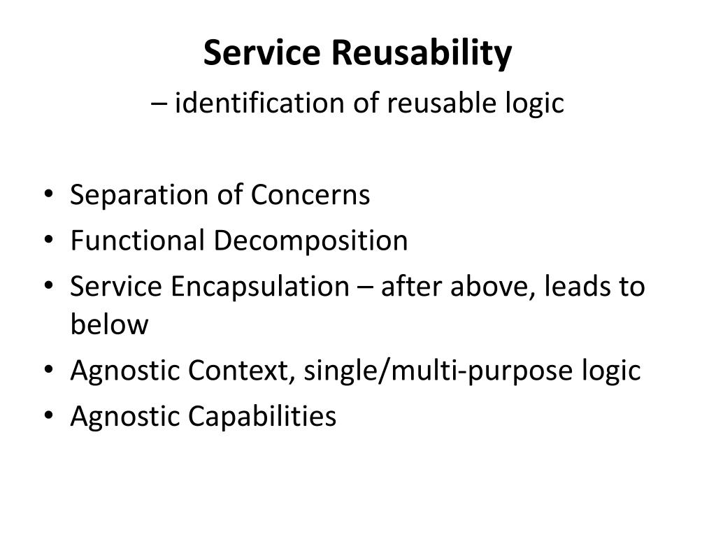 Service Reusability