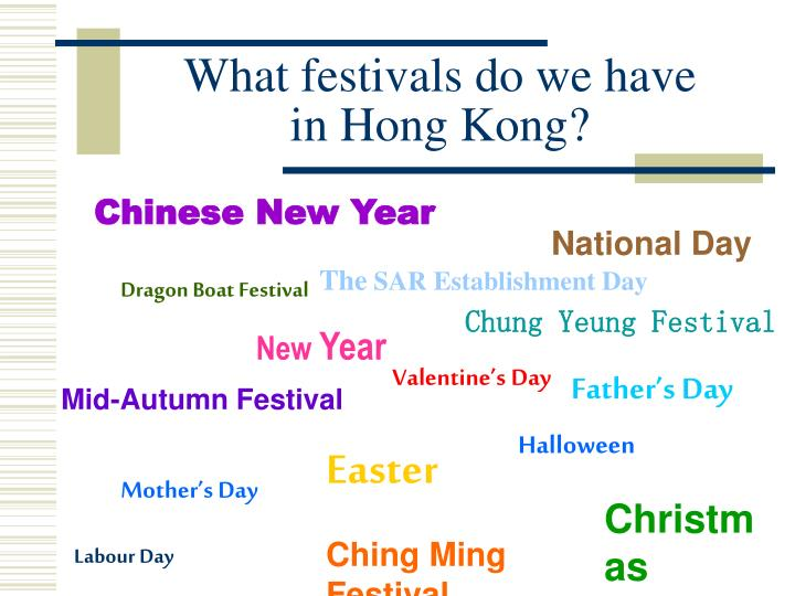 What festivals do we have in hong kong