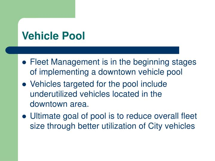 Vehicle Pool