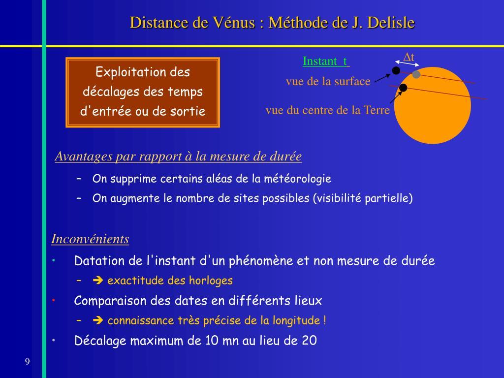 Distance de Vénus : Méthode de J. Delisle
