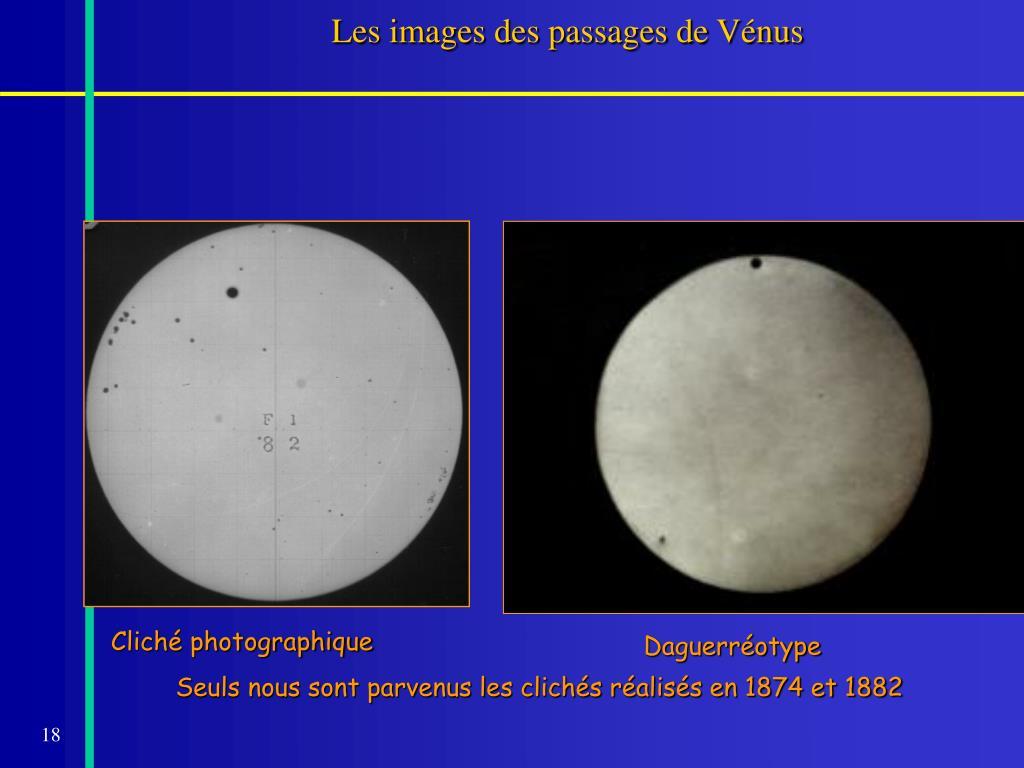 Les images des passages de Vénus