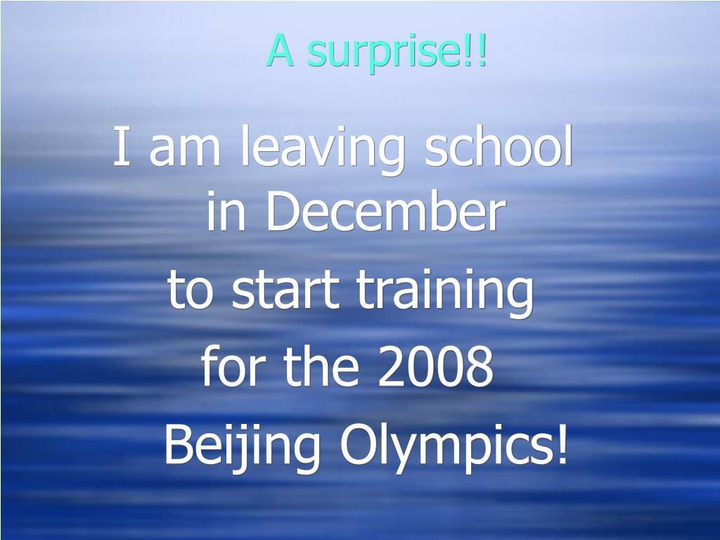 A surprise!!