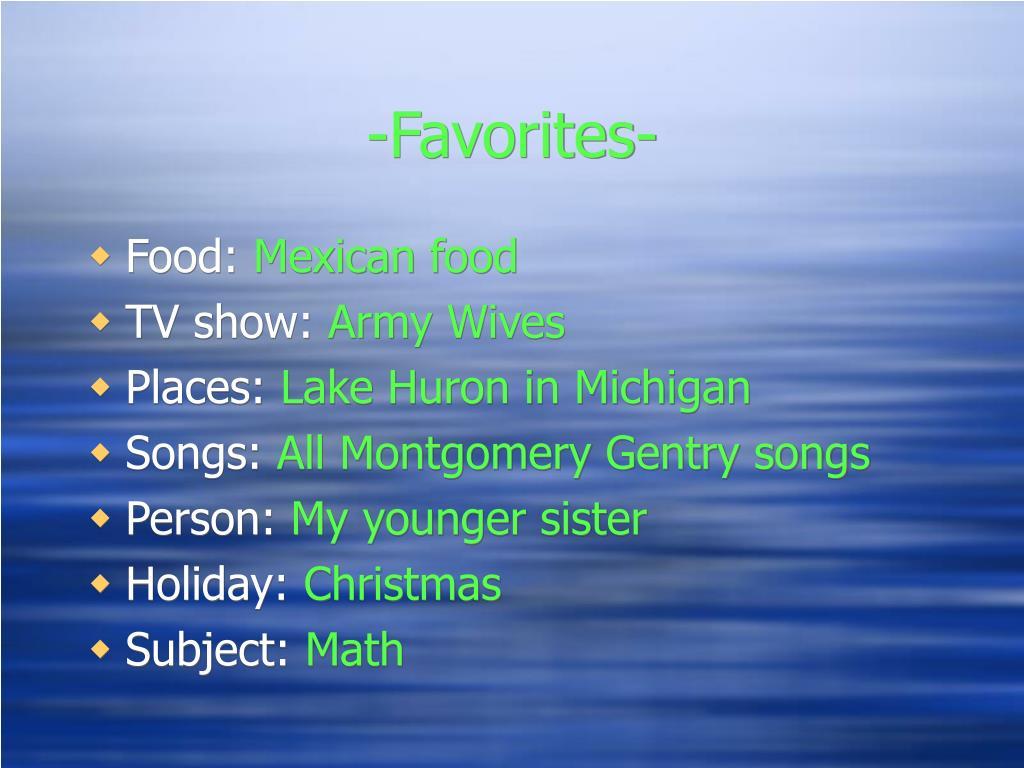 -Favorites-