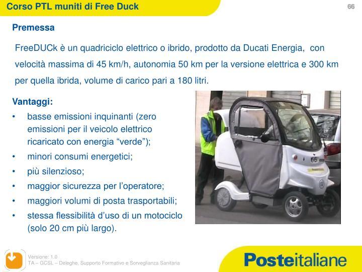 Corso PTL muniti di Free Duck