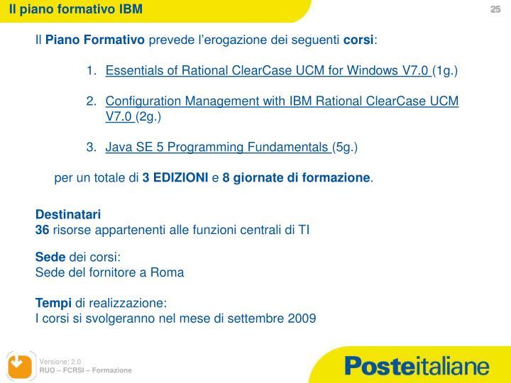 Il piano formativo IBM