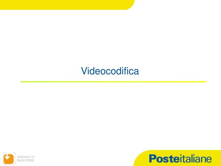 Videocodifica