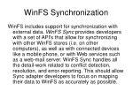 winfs synchronization