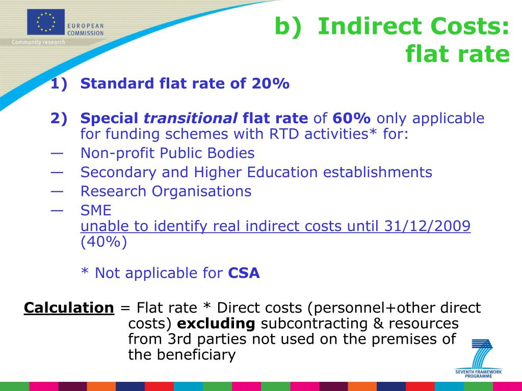 Standard flat rate of 20%