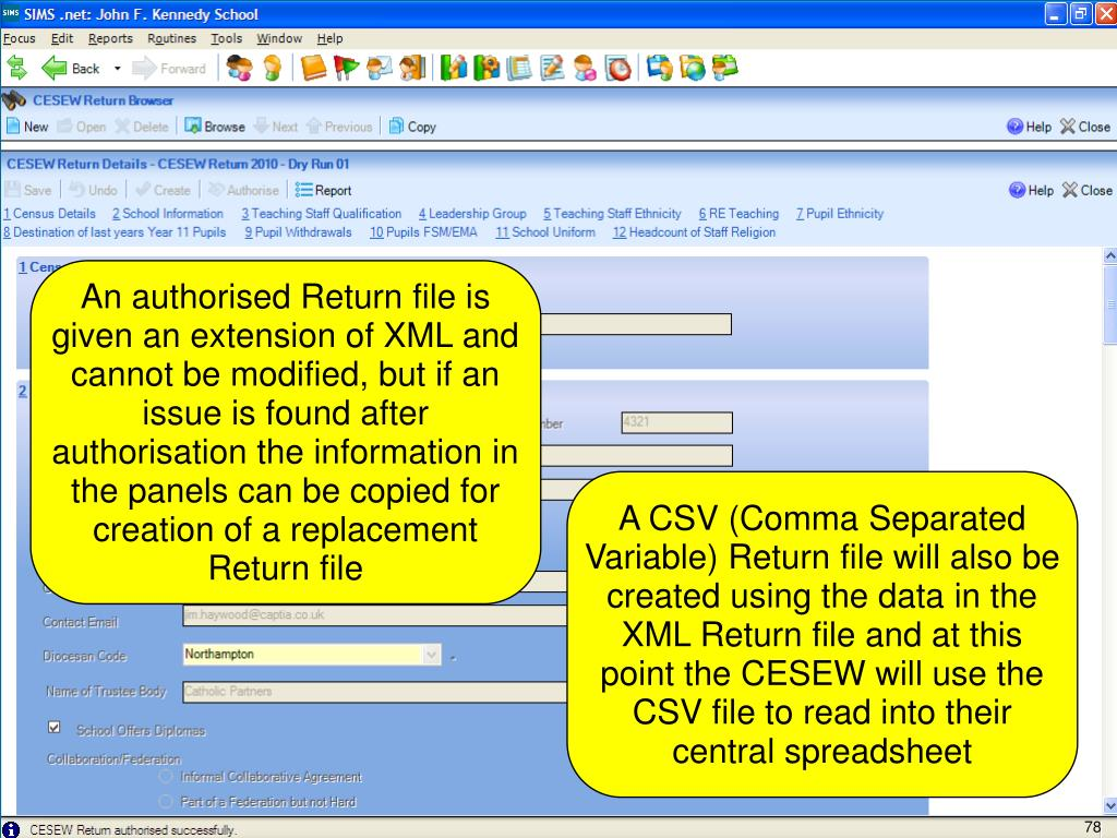 An authorised Return file is given an extension of XML and cannot be modified, but if an issue is found after authorisation the information in the panels can be copied for creation of a replacement Return file
