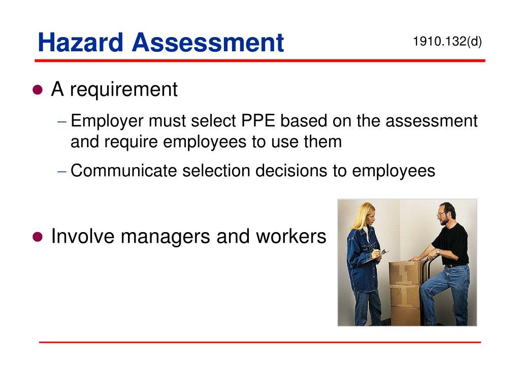 Hazard Assessment