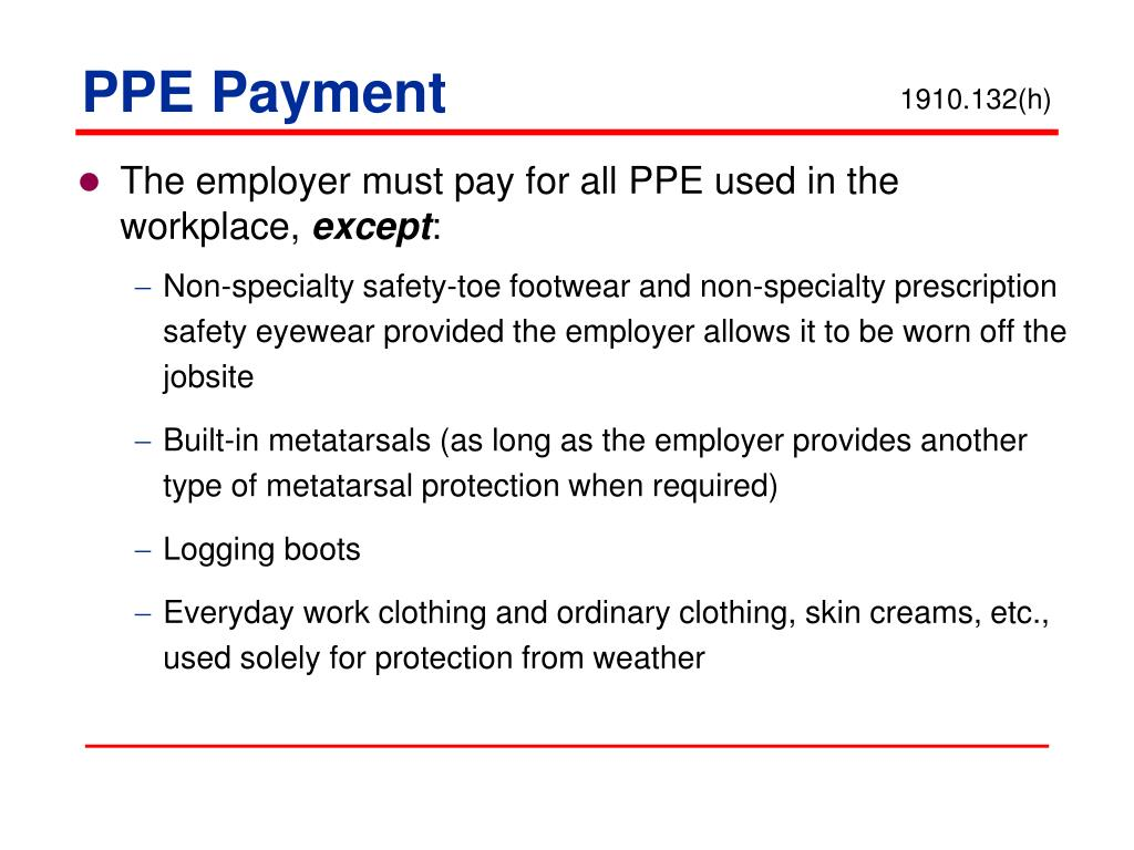 PPE Payment