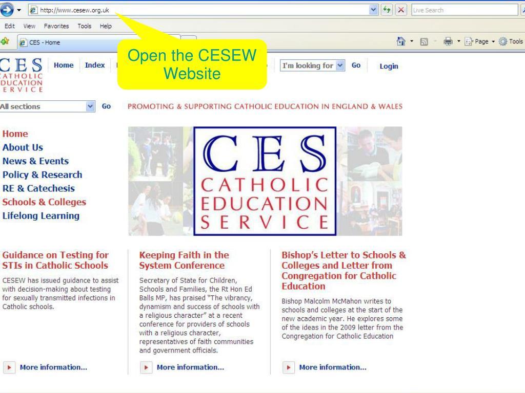Open the CESEW Website