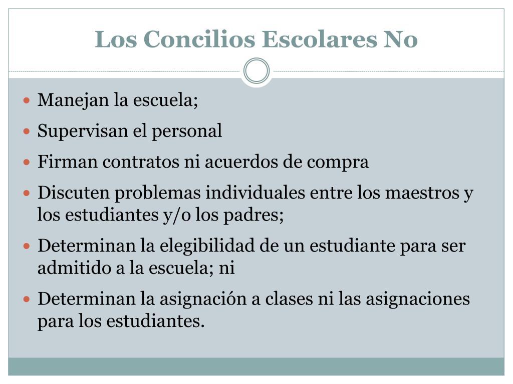 Los Concilios Escolares No