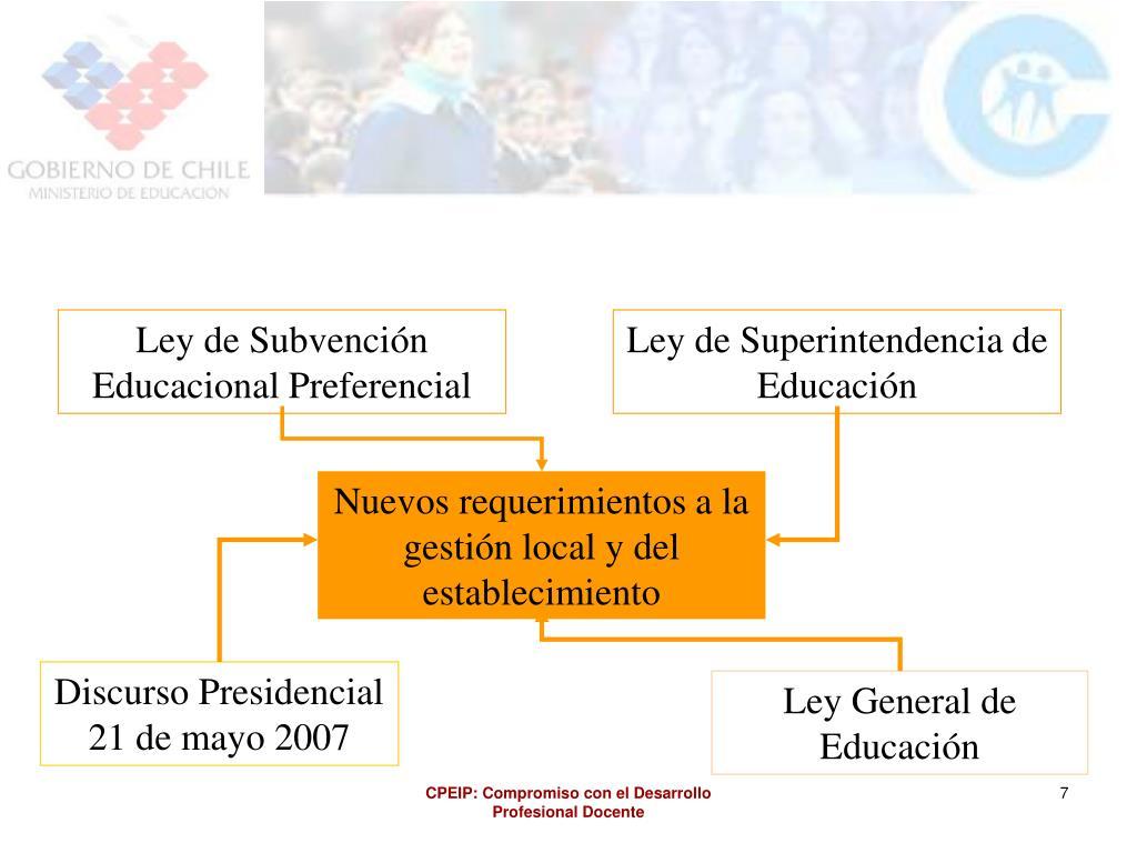 Ley de Subvención Educacional Preferencial