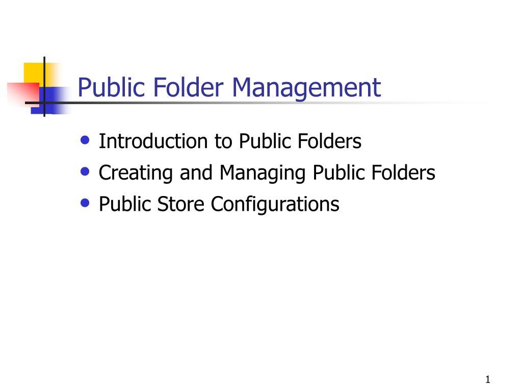 Public Folder Management