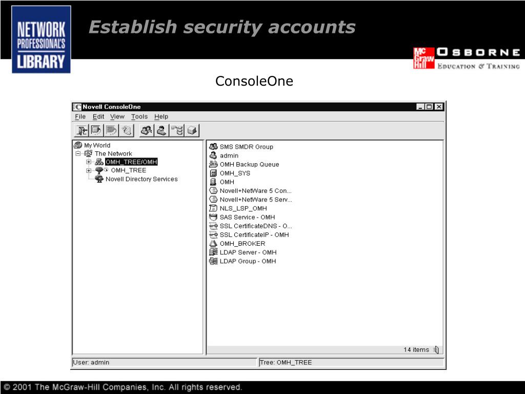 Establish security accounts