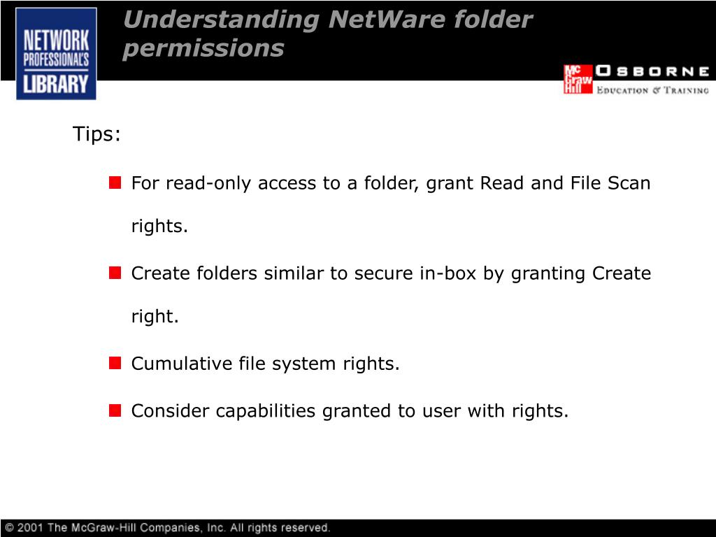 Understanding NetWare folder permissions