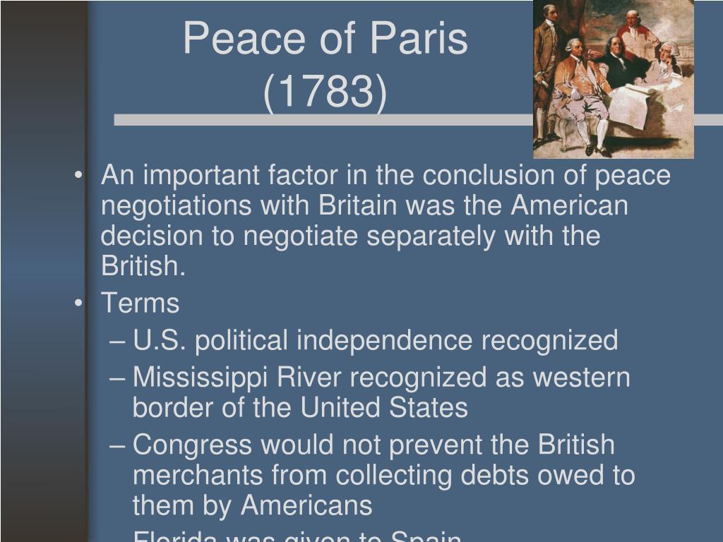 Peace of Paris (1783)