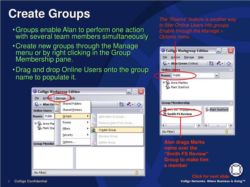 Create Groups