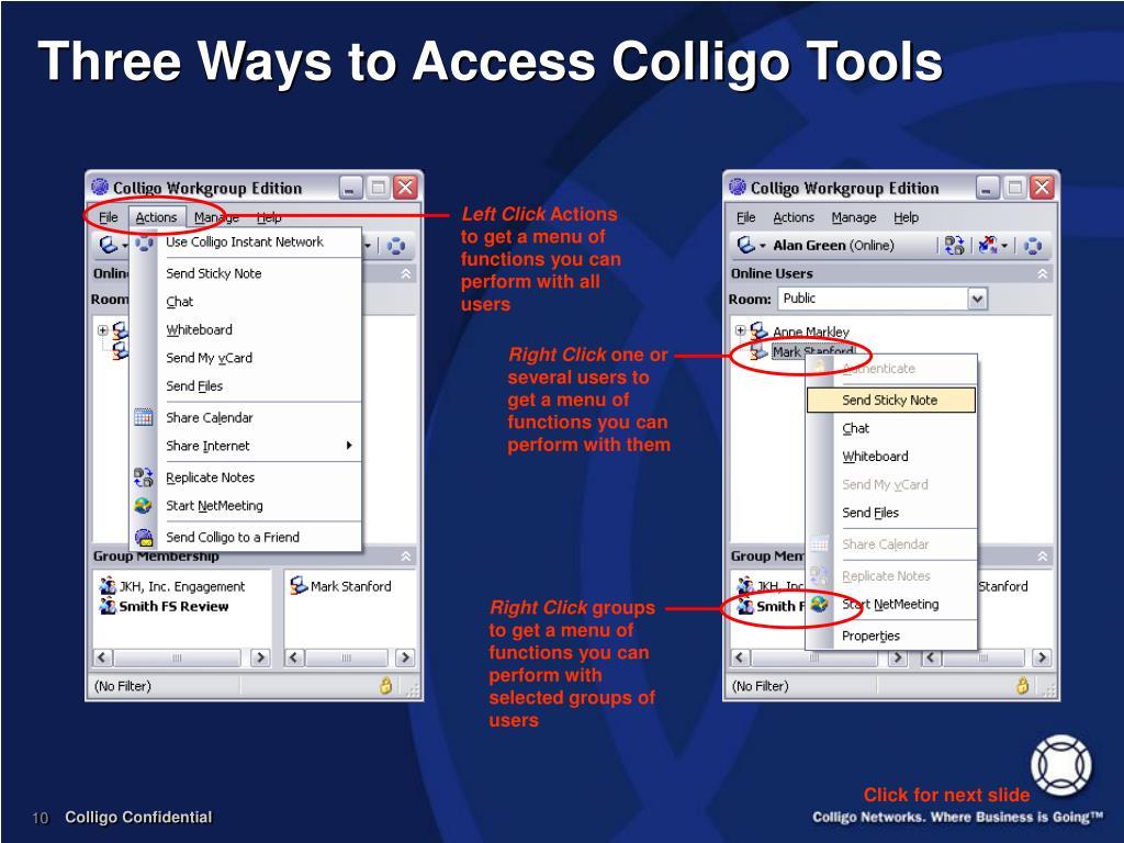 Three Ways to Access Colligo Tools