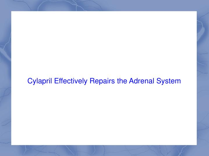 Cylapril Effectively Repairs the Adrenal System