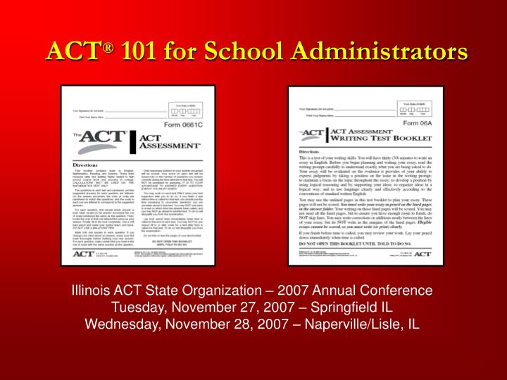 Act 101 for school administrators l.jpg