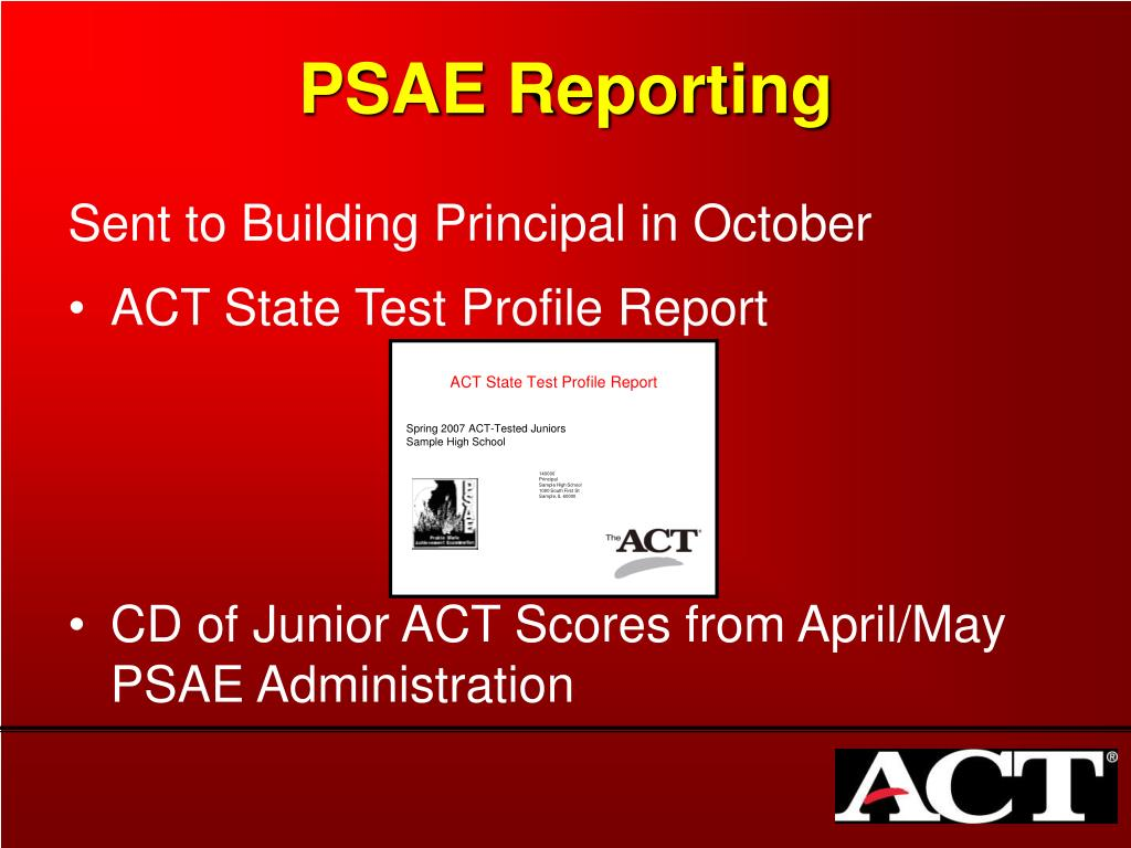 ACT State Test Profile Report