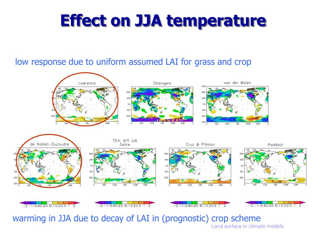 Effect on JJA temperature