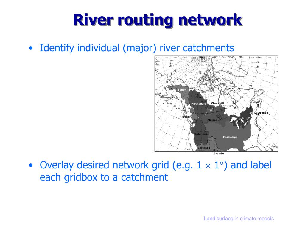 River routing network