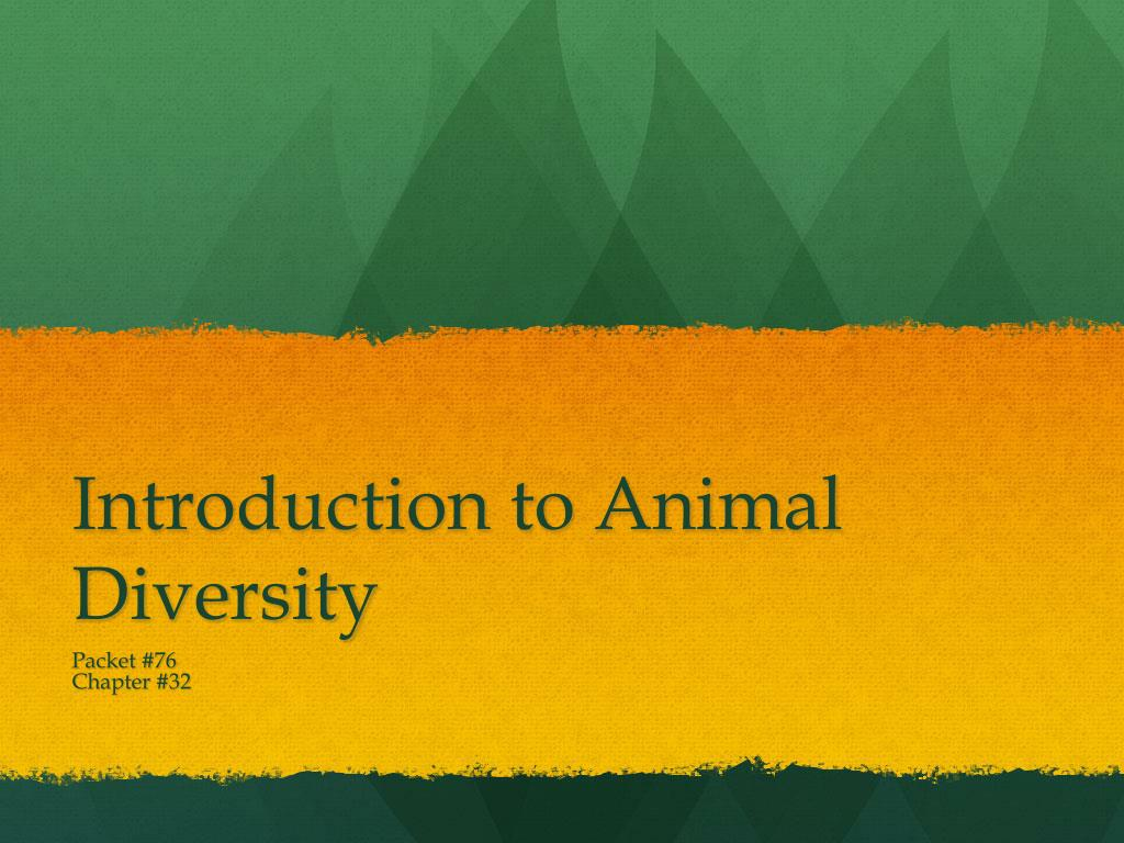 Introduction to Animal Diversity
