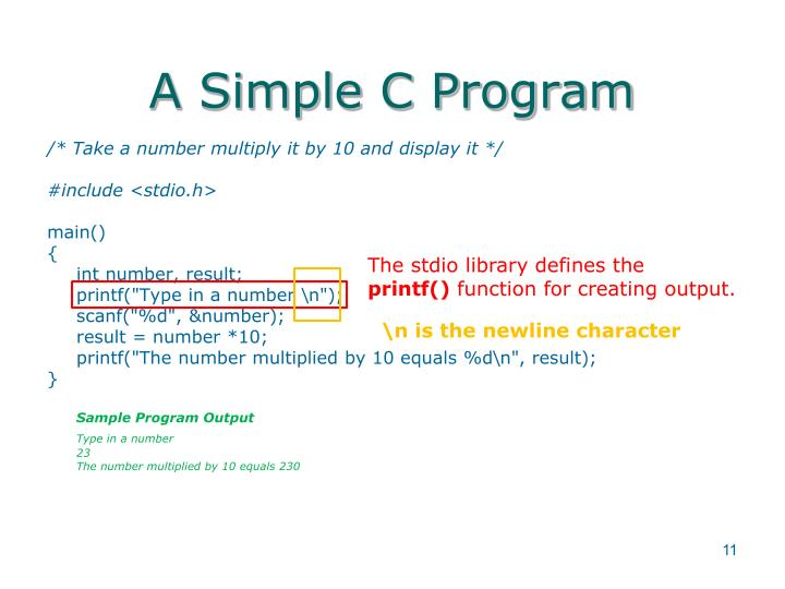 A Simple C Program