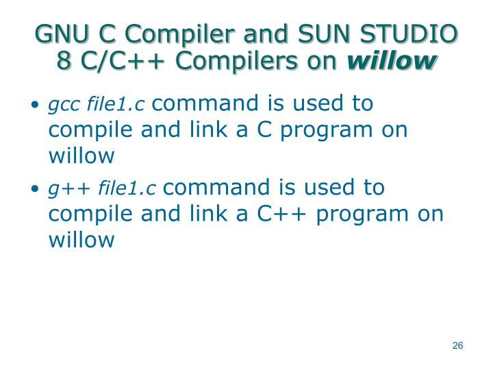 GNU C Compiler and