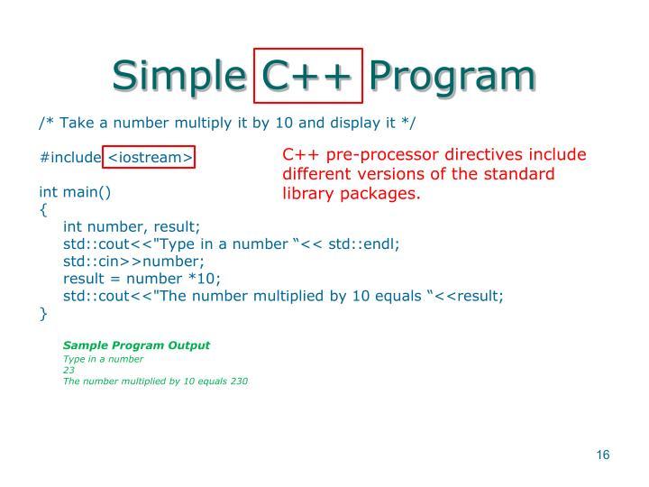 Simple C++ Program