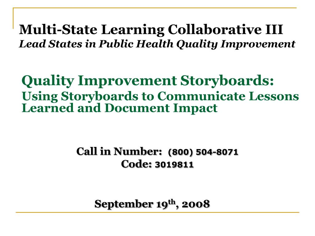 Multi-State Learning Collaborative III